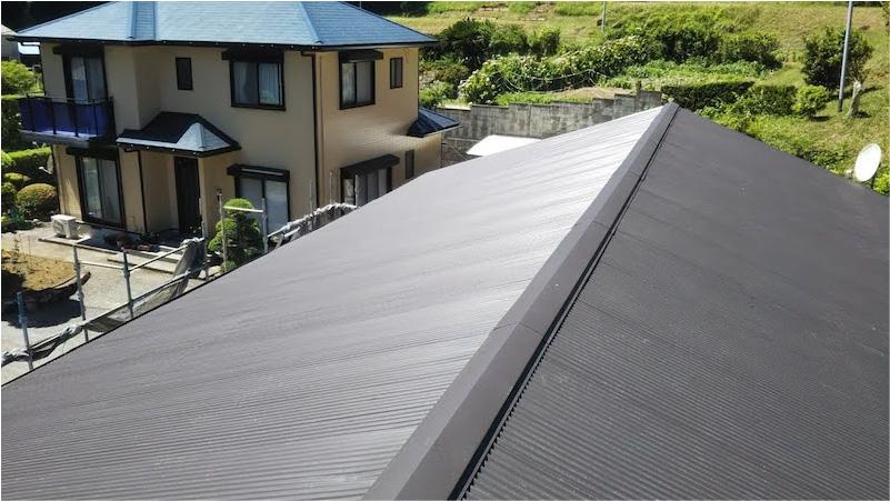 屋根材の施工