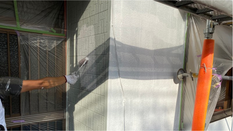 外壁塗装の下塗り