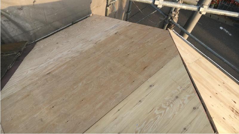 野地板の施工