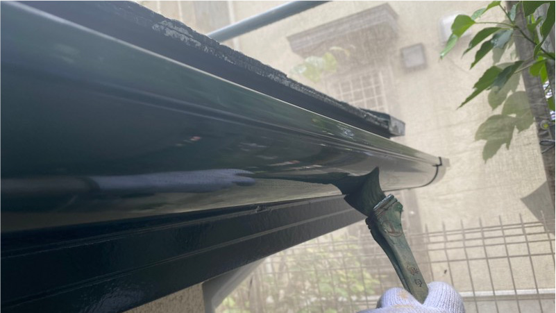 雨樋破風板の塗装