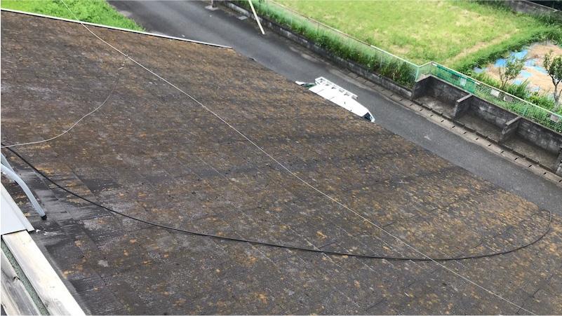 大網白里市の屋根カバー工法の施工前の様子