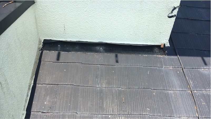屋根カバー工法の雨押さえの撤去