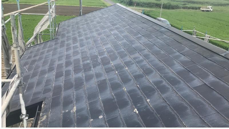 匝瑳市の屋根カバー工法の施工前の様子