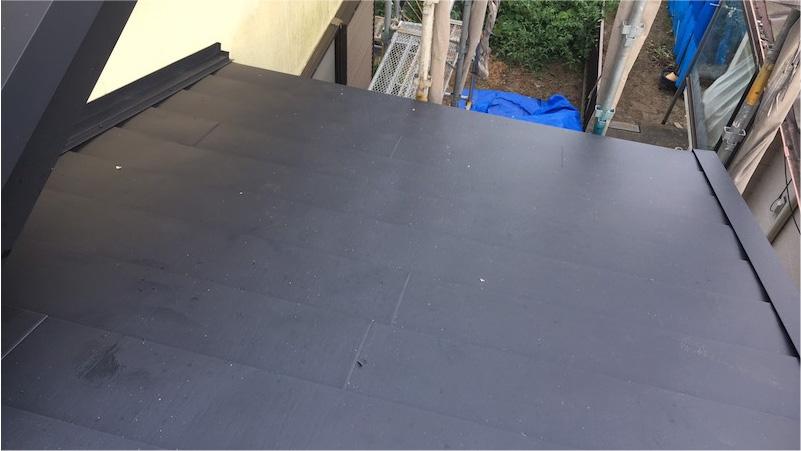 屋根カバー工法の施工後
