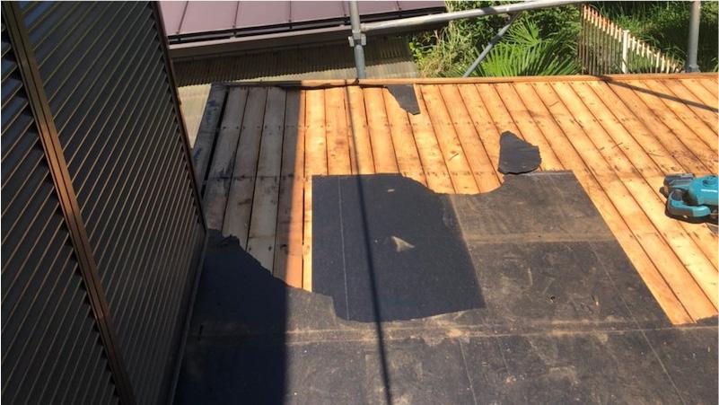 トタン屋根の撤去解体
