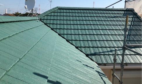 千葉県船橋の屋根塗装工事の施工事例