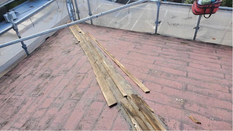 棟板金の撤去・解体