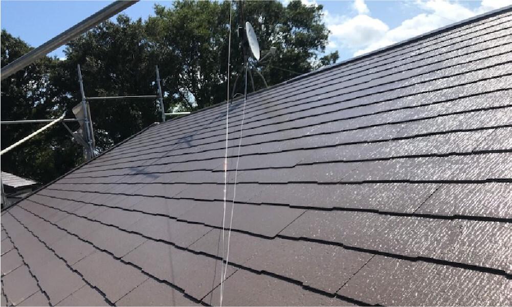 八街市の屋根塗装の施工事例