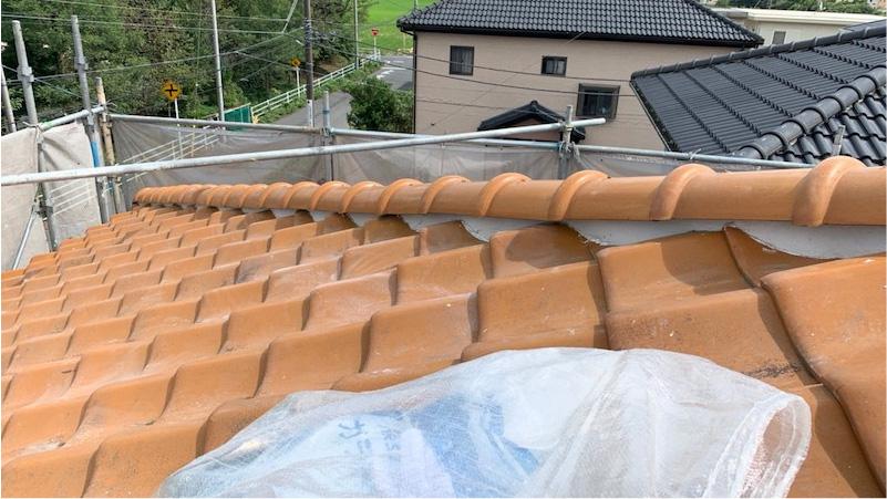 屋根瓦の施工