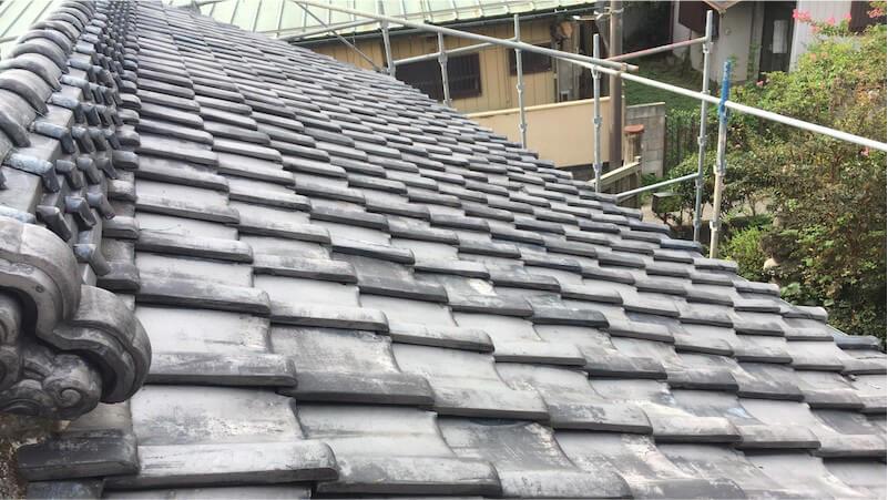 野田市の屋根葺き替え工事の施工前の様子