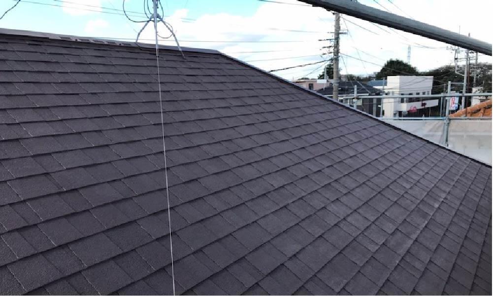 市川市のアスファルトシングルの屋根塗装の施工事例