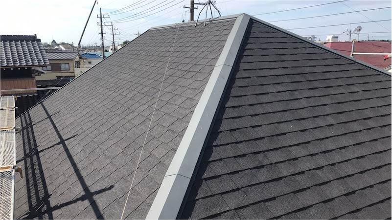 アスファルトシングル屋根の施工前の様子