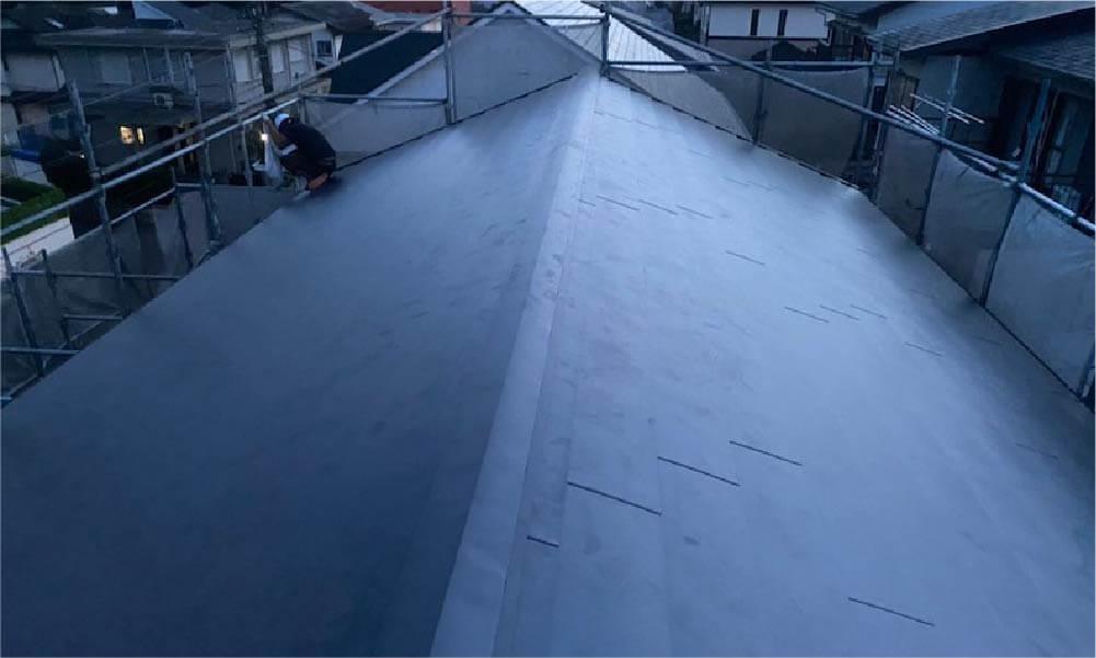 稲毛区の屋根葺き替え工事の施工事例