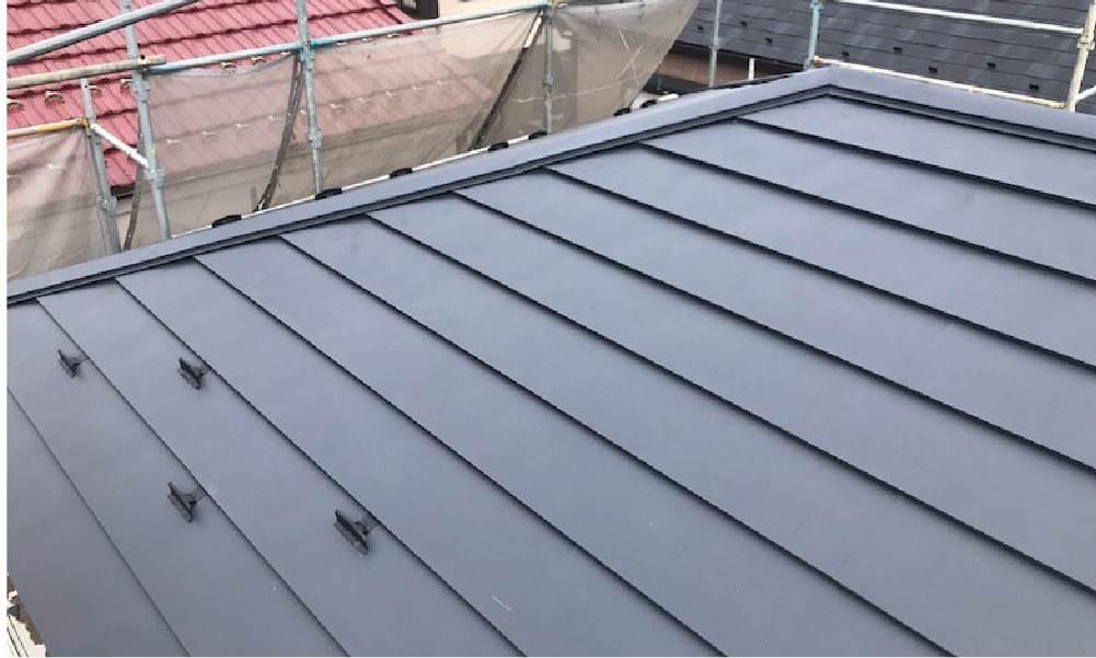 市川市の屋根葺き替え工事の施工事例