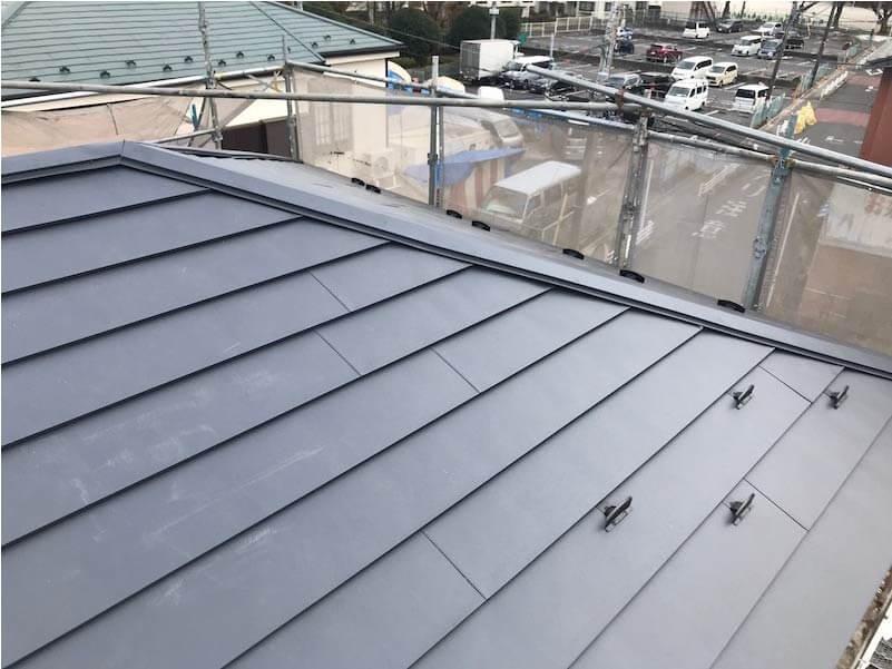 市川市の屋根葺き替え工事の施工後の様子