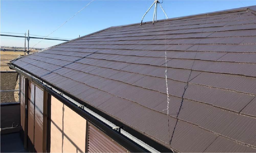 野田市の屋根塗装の施工事例