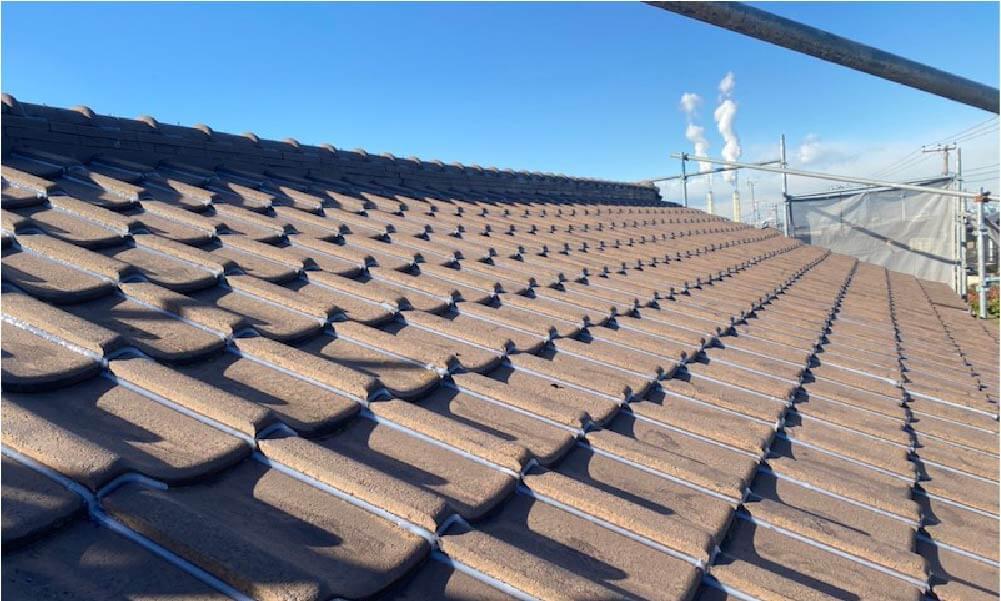 鎌ヶ谷市の屋根修理の施工事例