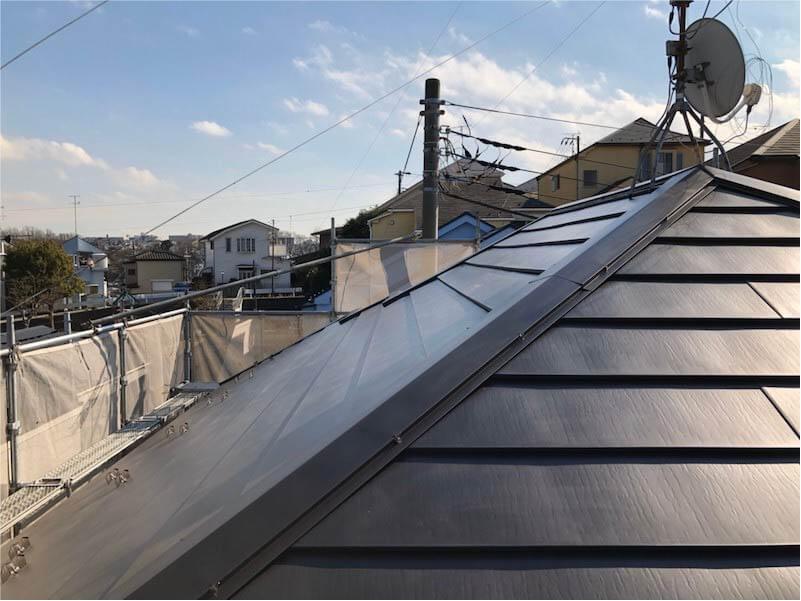 港南区の屋根リフォームの施工後の様子