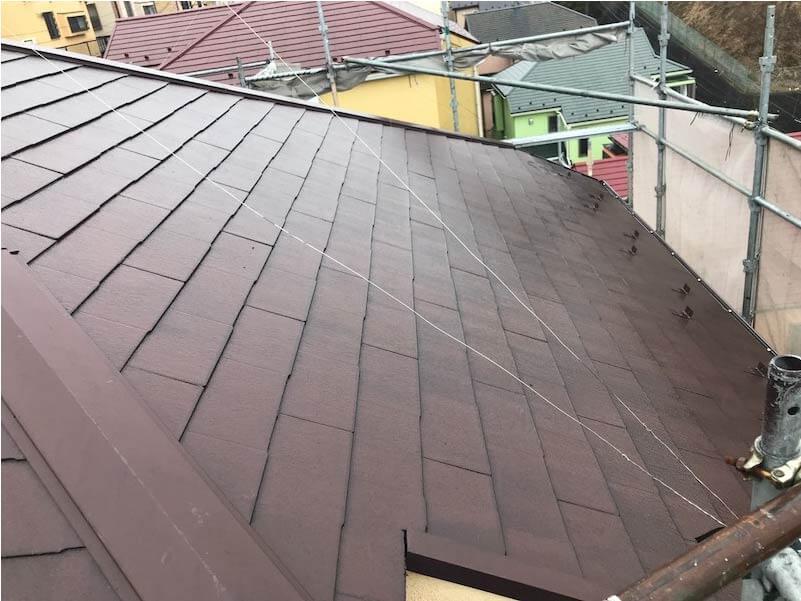 港南区の屋根リフォームの施工前の様子