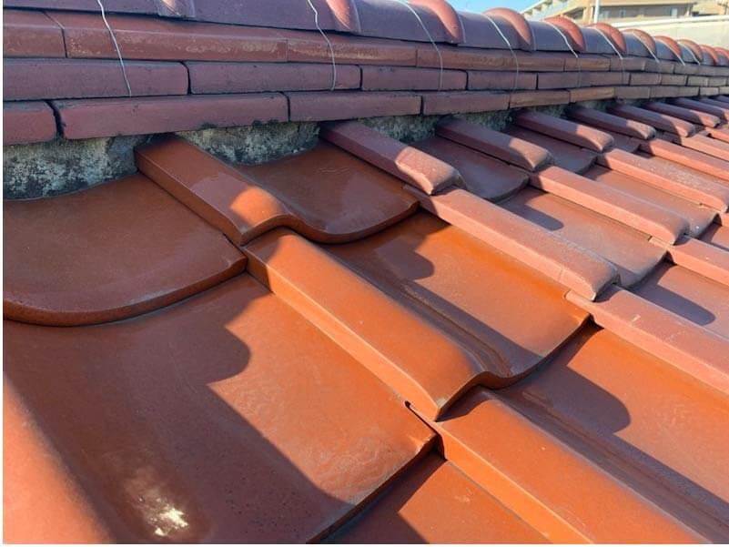 横浜市の屋根修理の施工前の様子