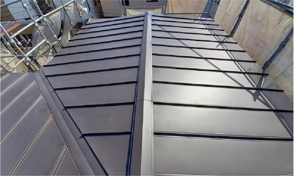新座市の屋根葺き替え工事の施工事例
