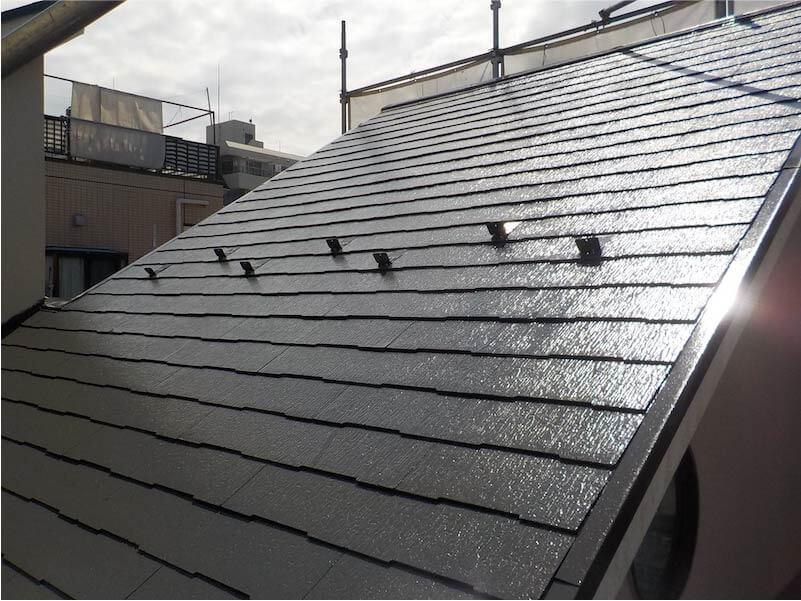 大田区の屋根塗装の施工後の様子