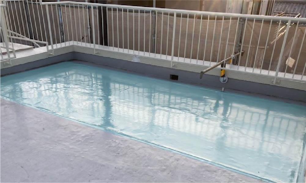 市川市の屋上防水工事の施工事例