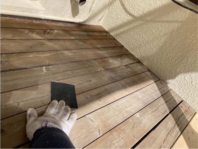 市川市の外壁塗装のウッドデッキの塗装