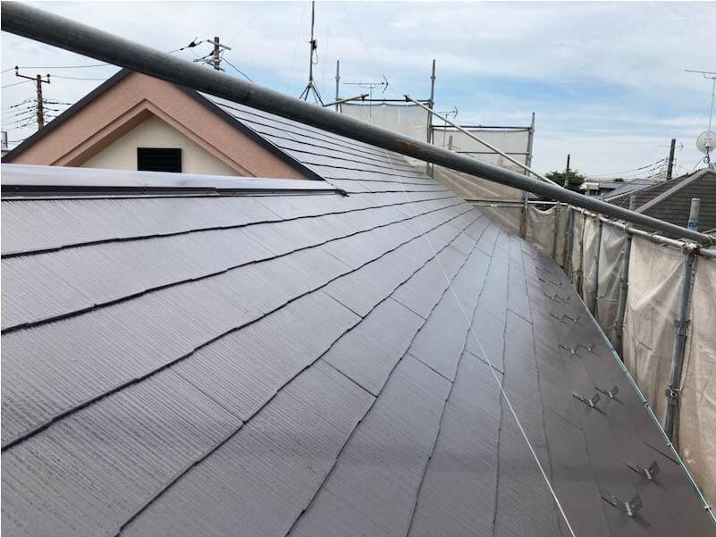 練馬区の屋根塗装の施工後の様子