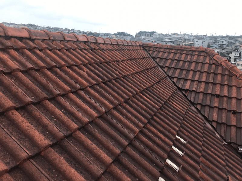 保土ヶ谷区の屋根修理の施工前の様子
